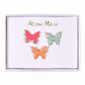 3 pin's émaillés papillons