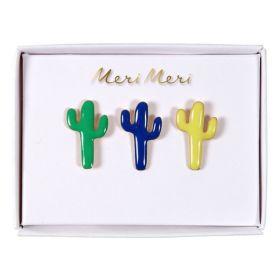 3 pin's émaillés cactus