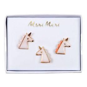 3 pin's émaillés licornes