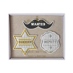 Broches brodées shérif