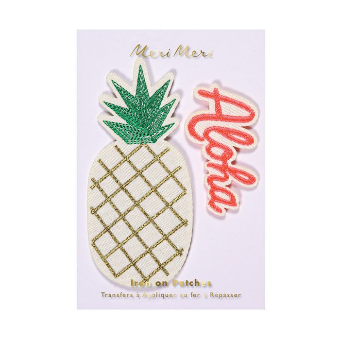 Ecussons thermocollants ananas aloha