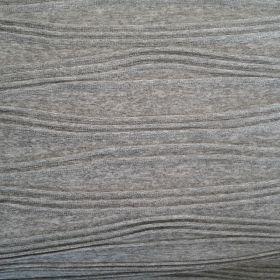 Tissu jersey plissé gris clair
