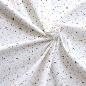 Tissu Zenor blanc vieux rose