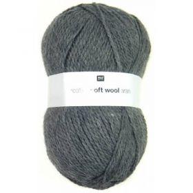 Laine soft wool aran grise foncée