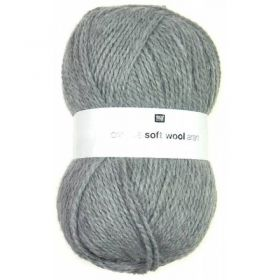 Laine soft wool aran grise clair