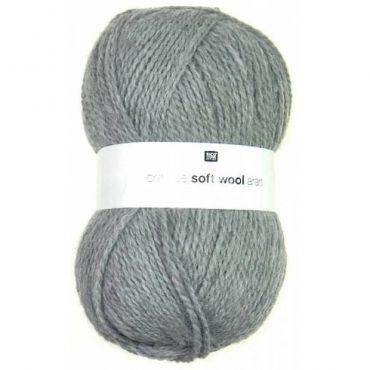 Laine soft wool aran grise clair