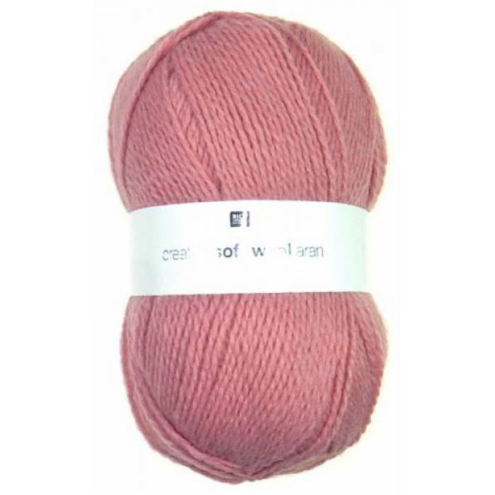 Laine soft wool aran fushia