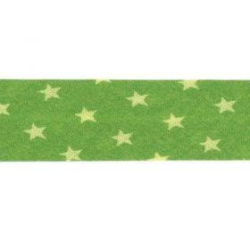 Biais Frou-frou étoiles vert