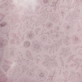 Tissu coton enduit fleurs métallisées