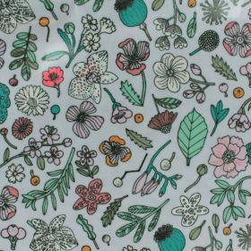 Tissu coton enduit fleurs multicolores