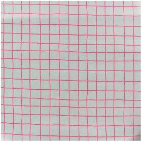 Tissu coton enduit carreaux néon