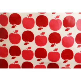 Tissu coton enduit pommes rouges