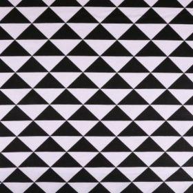 Tissu coton enduit triangles noirs et blancs