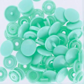Boutons pressions rond menthe