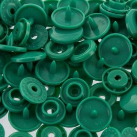 Boutons pressions rond vert
