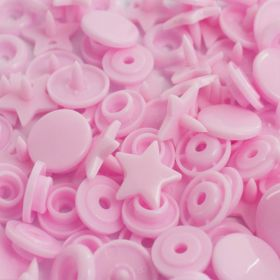 Boutons pressions rond rose