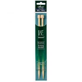 Aiguilles bambou 23cm 6.5mm