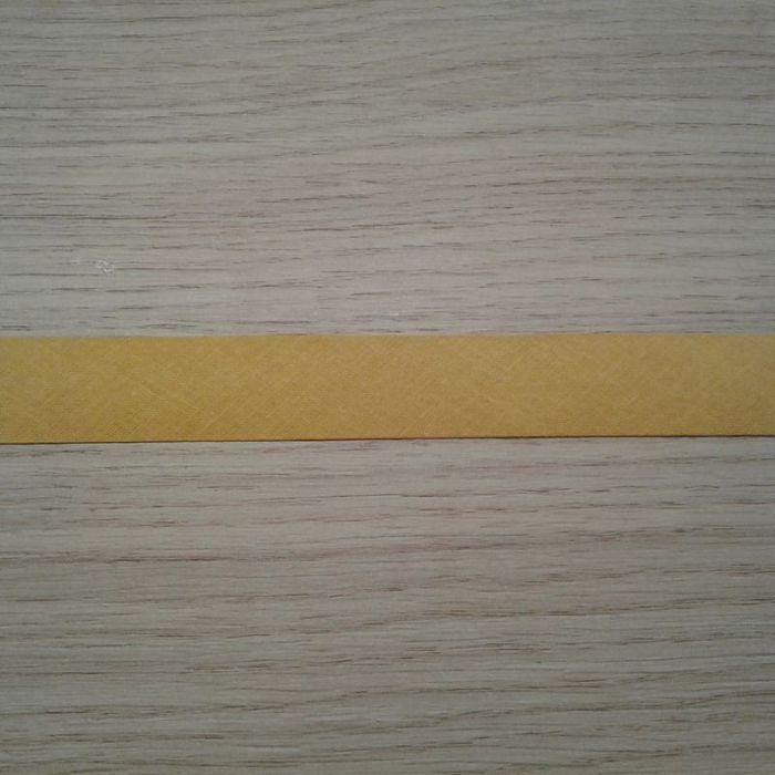 Biais uni coton jaune oranger 685