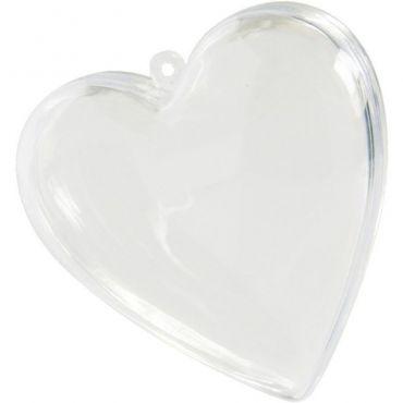 Lot 5 coeur en plexi