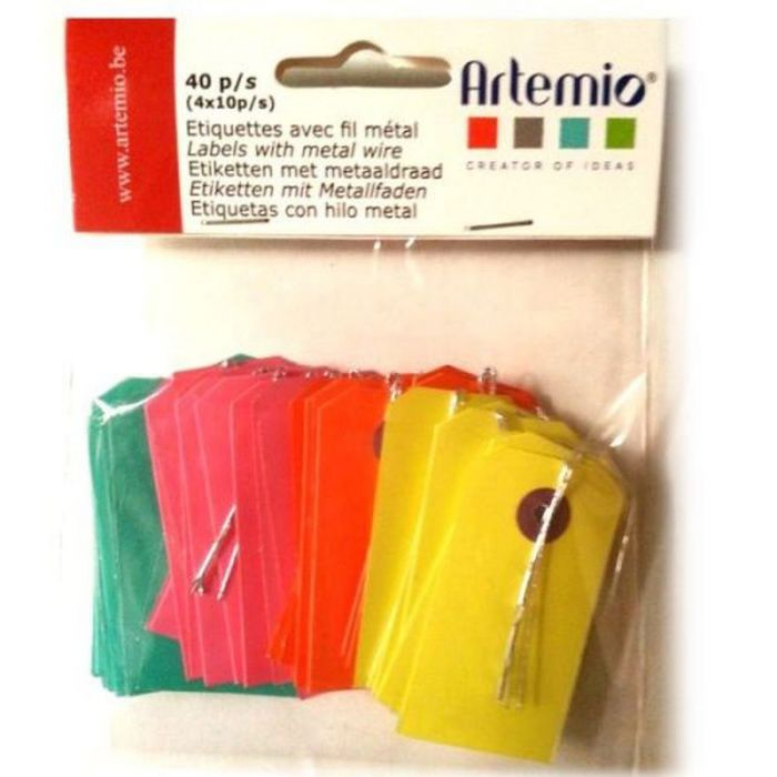 Petites étiquettes multicolores