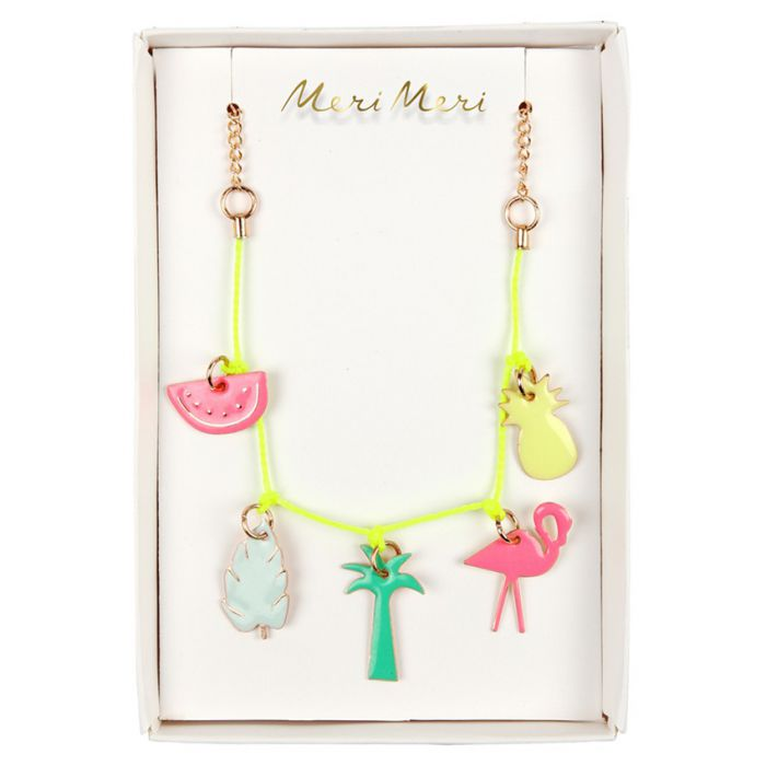 Collier breloques tropical