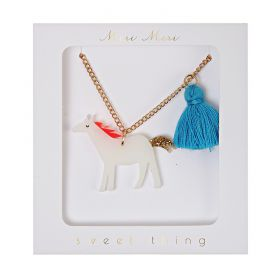 Collier pompoms cheval