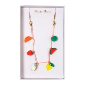 Collier à breloques fruits