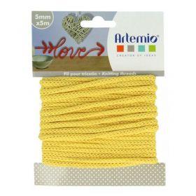 Fil tricotin jaune