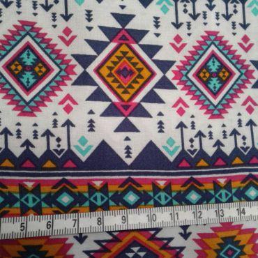 Tissu viscose motifs ethniques