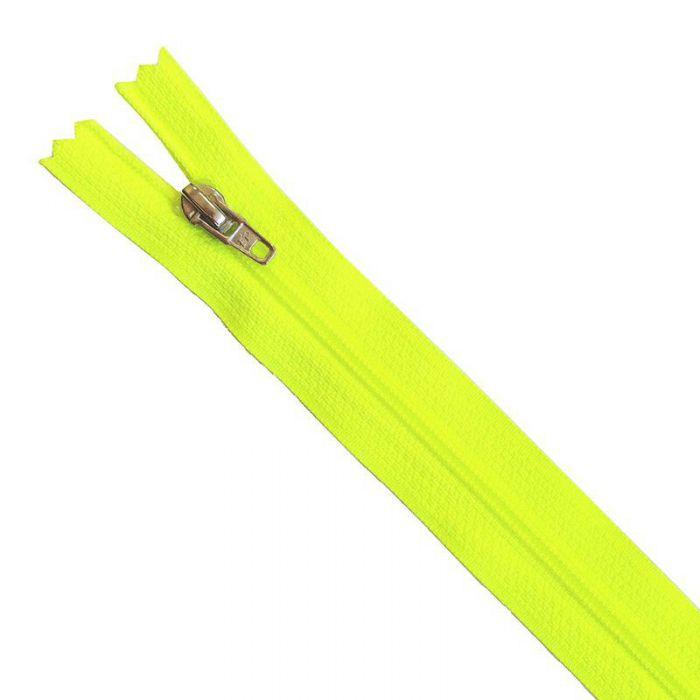 Fermeture Z51 35cm jaune fluo