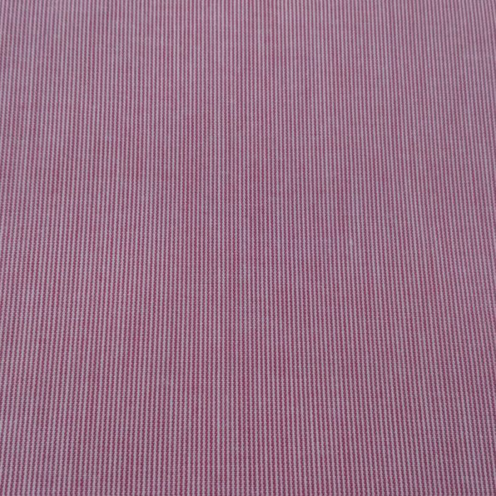 Tissu coton fines rayures rouge