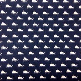 Tissu coton baleine