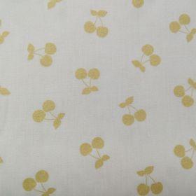 Tissu cherries gold nude