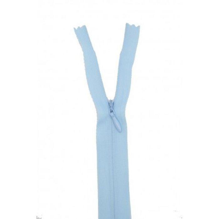 Fermeture invisible 22cm bleu ciel col:505