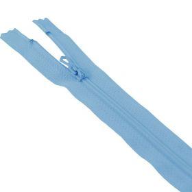 Fermeture 35cm bleu col:530