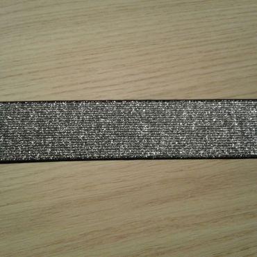Élastique 30mm gris argenté