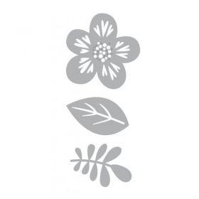 Dies fleurs et feuilles