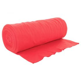 Bord côte jersey tubulaire rouge