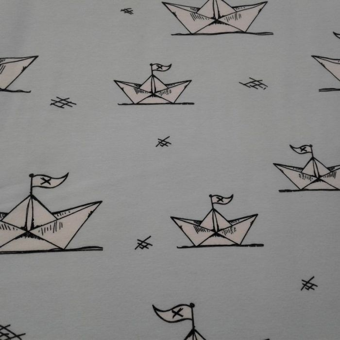 Tissu jersey bateau en papier