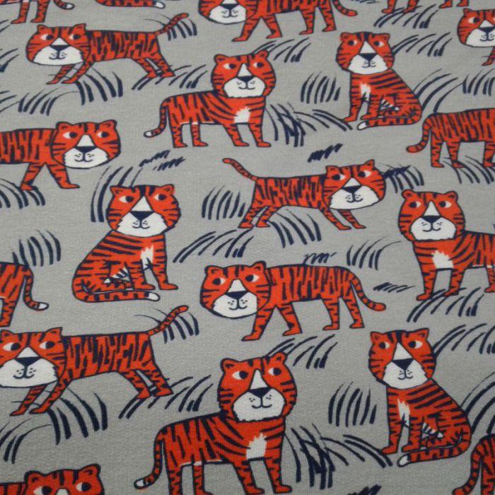 Tissu jersey épais tigre