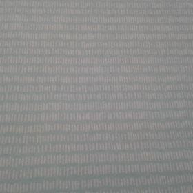 Tissu jersey turquoise trait blanc