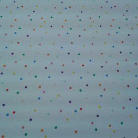 Tissu jersey pois multicolore
