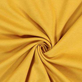 Tissu jersey uni moutarde