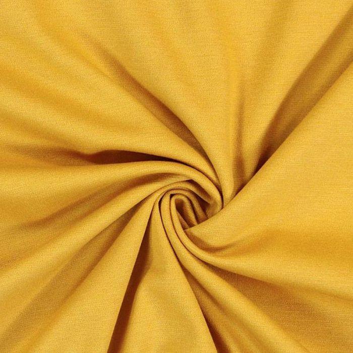 Tissu jersey moutarde