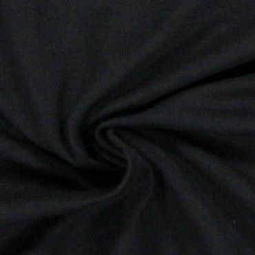 Tissu jersey uni noir