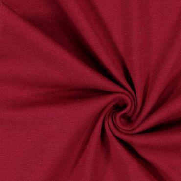 Tissu jersey uni bordeau