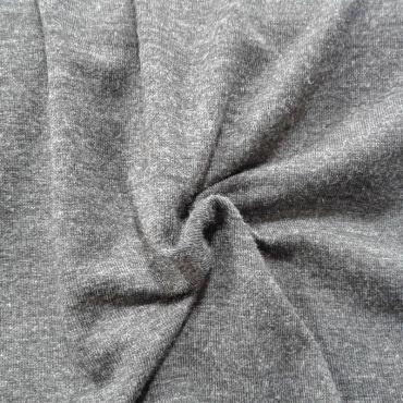 Tissu jersey uni gris foncé