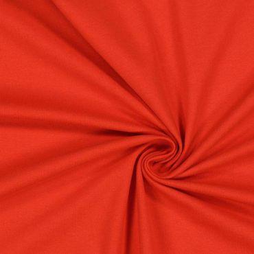 Tissu jersey uni rouge