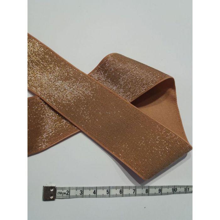 Élastique 4cm orange et or