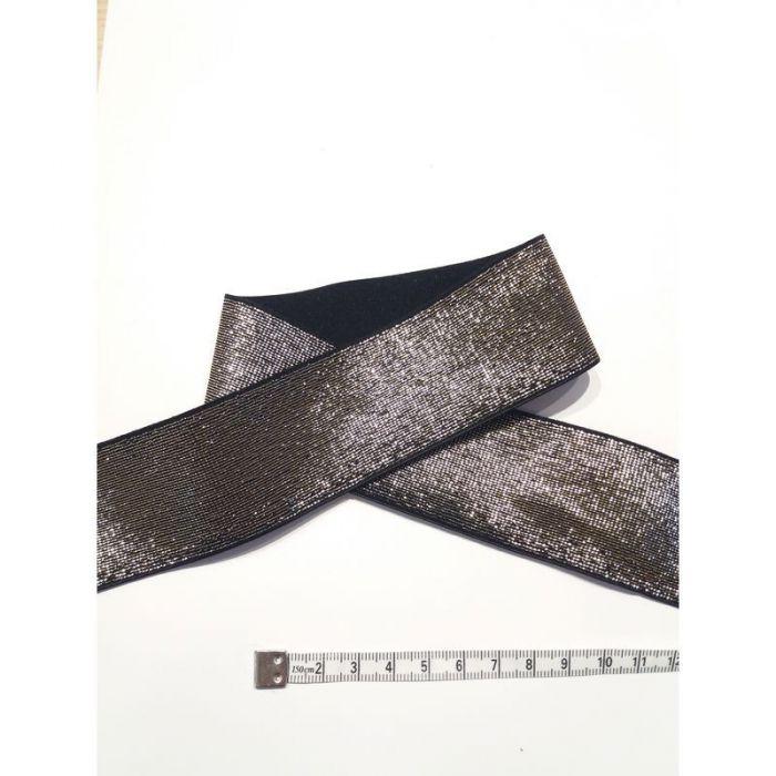 Élastique 4cm noir et or